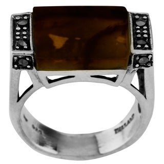 Haven Park Sterling Silver Tiger Eye Statement Ring