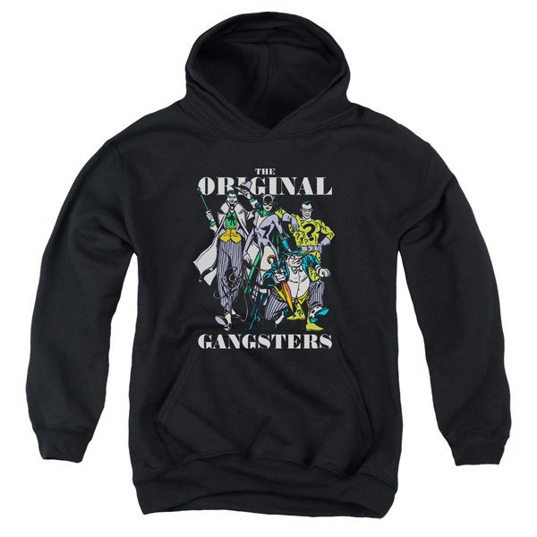 DC/Original Gangsters Youth Pull-Over Hoodie in Black