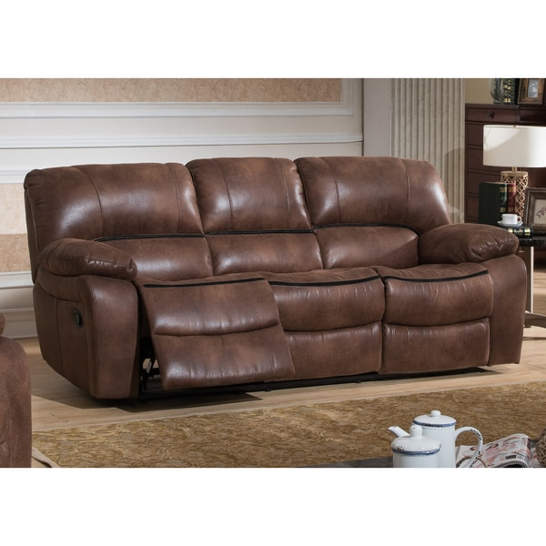 Leighton Brown Transitional Reclining Sofa