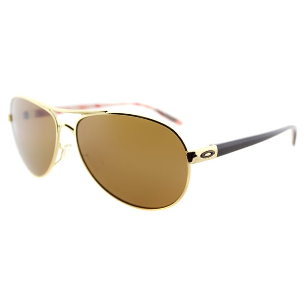 Oakley Feedback OO4079-08 Polished Gold Aviator Bronze Polarized Lens Sunglasses