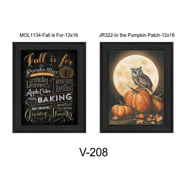 8-inch long Pumpkin Patch Framed Art