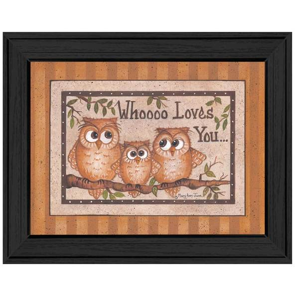 Whoooo Loves You Framed Art