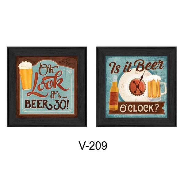 28-inch long Beer O'Clock Framed Art