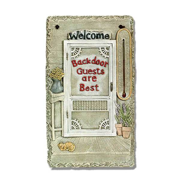 5.1-inch long Backdoor Guests, slates, porch, garden, Novelty Art