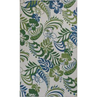 """Serafina 2916 Ivory/Green Palazzo (3'3"""" x 5'3"""") Rug"""