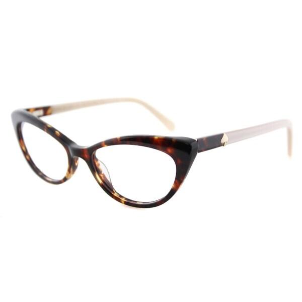 Kate Spade Women's KS W79 Analena Tortoise 50-millimeter Plastic Cat-eye Eyeglasses
