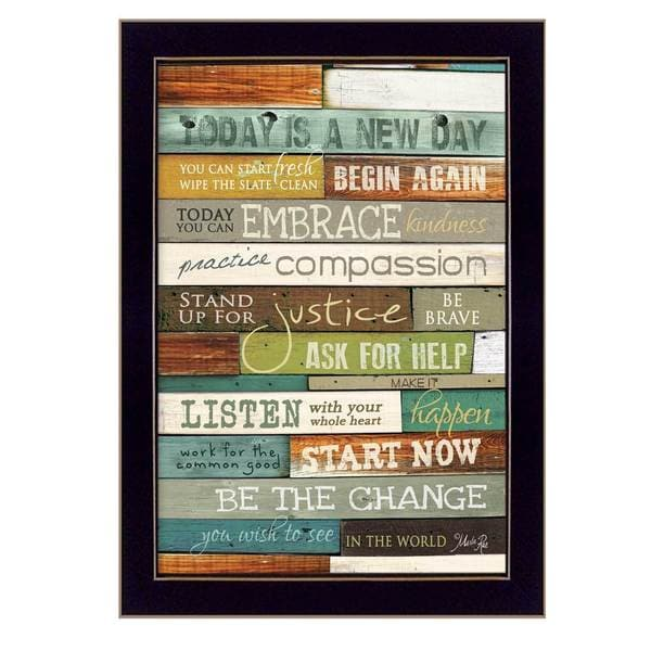 8-inch long Today is a New Day Framed Art