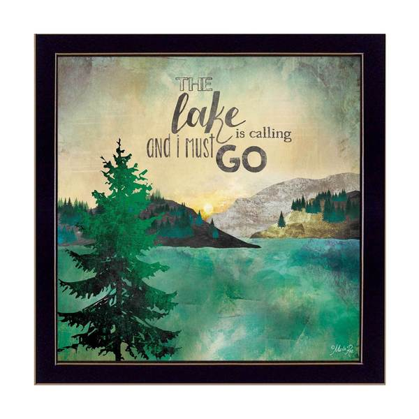 12-inch long The Lake is Calling Framed Art