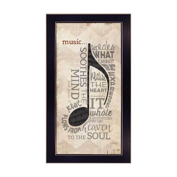 9-inch wide Music Framed Art