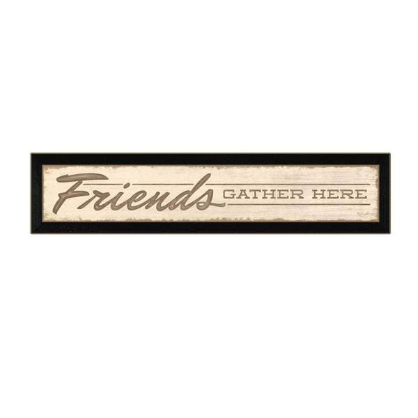 36-inch Friends Gather Here Framed Art