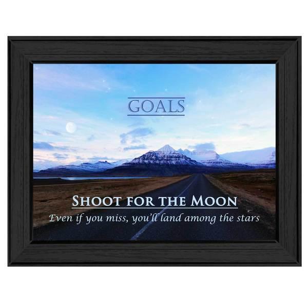 12-inch long Rectangular Goals Framed Art