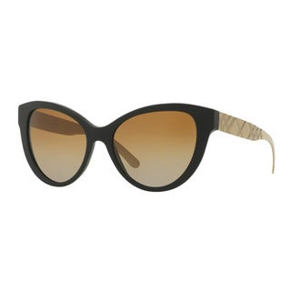 Burberry Women's BE4220 3464T5 Black Plastic Butterfly Sunglasses