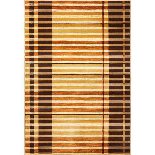 "Lifestyles 5475 Earthtone Stripes (7'10"" x 9'10"") Rug"