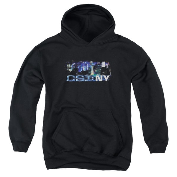CSI Ny/Never Rests Youth Pull-Over Hoodie in Black