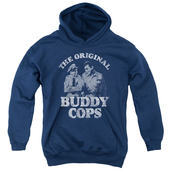 Andy Griffith/Buddy Cops Youth Pull-Over Hoodie in Navy