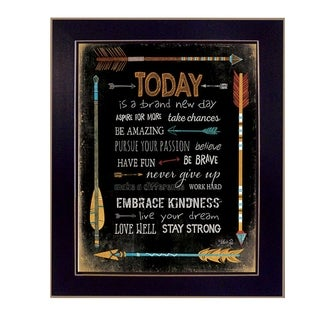 18-inch long Today is a Brand New Day Framed Art