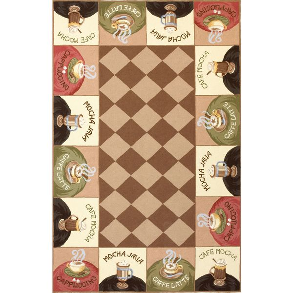 KAS Rugs Colonial Coffee Wake-Up Call Novelty Rug