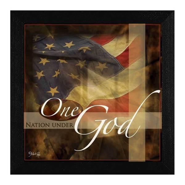 12-inch long One Nation Under God Framed Art