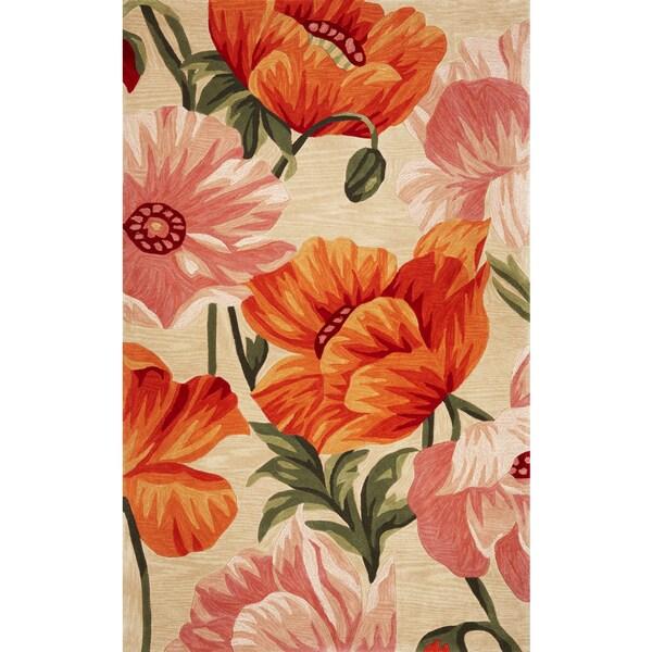"Sparta 3137 Sand/Orange Tulips (8'6"" x 11'6"") Rug"