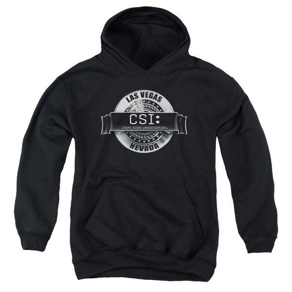 CSI/Rendered Logo Youth Pull-Over Hoodie in Black 18752353