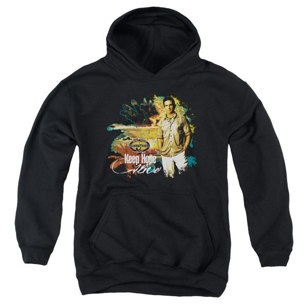 Survivor/Keep Hope Alive Youth Pull-Over Hoodie in Black