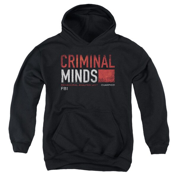 Criminal Minds/Title Card Youth Pull-Over Hoodie in Black