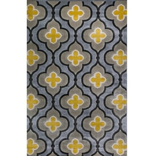 Christopher Knight Home Vita Loraine Geometric Silver Rug (5' x 8')