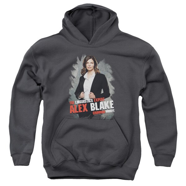 Criminal Minds/Alex Blake Youth Pull-Over Hoodie in Charcoal