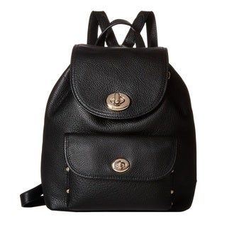Coach Mini Turnlock Tie Rucksack Fashion Backpack