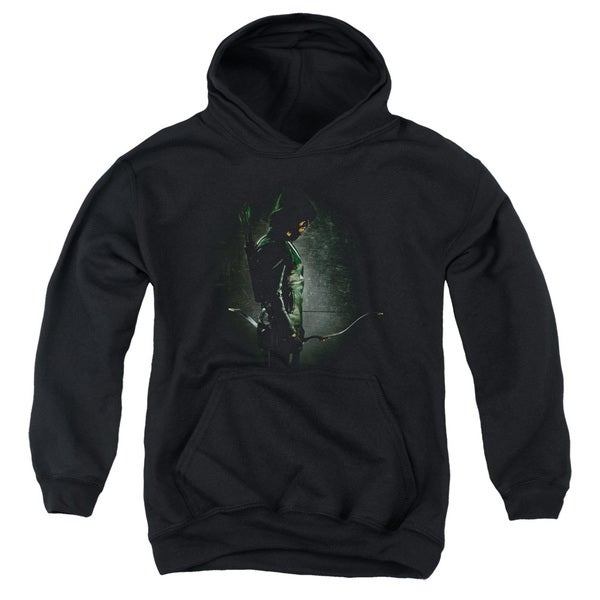 Arrow/In The Shadows Youth Pull-Over Hoodie in Black
