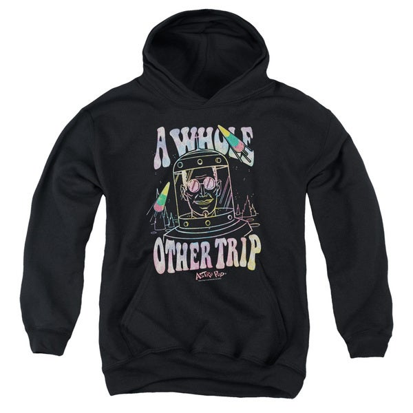 Astro Pop/Space Popssdey Youth Pull-Over Hoodie in Black 18753087