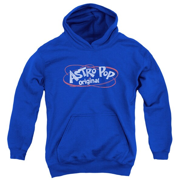 Astro Pop/Vintage Logo Youth Pull-Over Hoodie in Royal