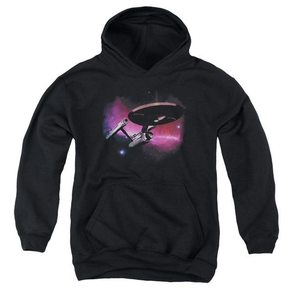 Star Trek/Prime Directive Youth Pull-Over Hoodie in Black