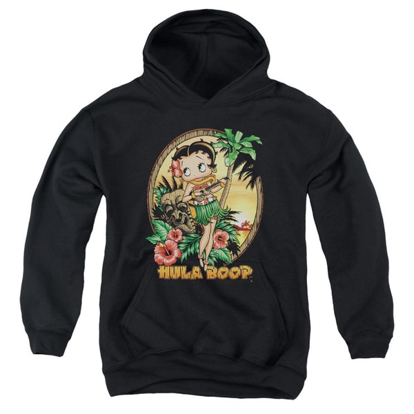 Boop/Hula Boop Ii Youth Pull-Over Hoodie in Black