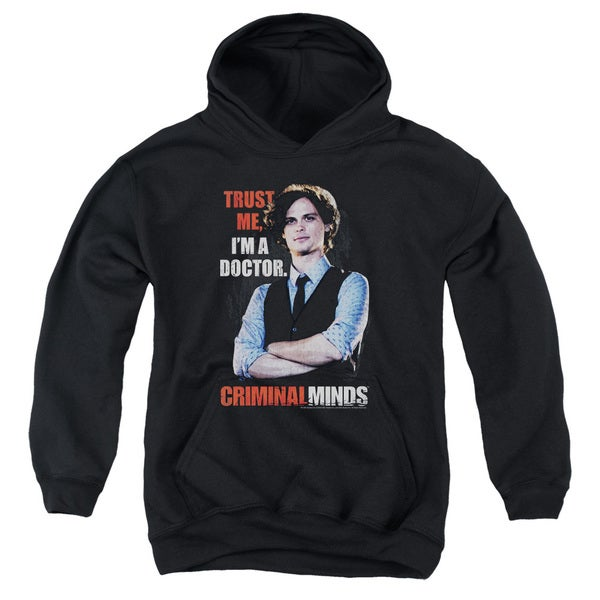 Criminal Minds/Trust Me Youth Pull-Over Hoodie in Black