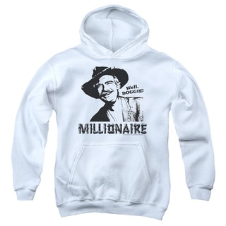 Beverly Hillbillies/Millionaire Youth Pull-Over Hoodie in White
