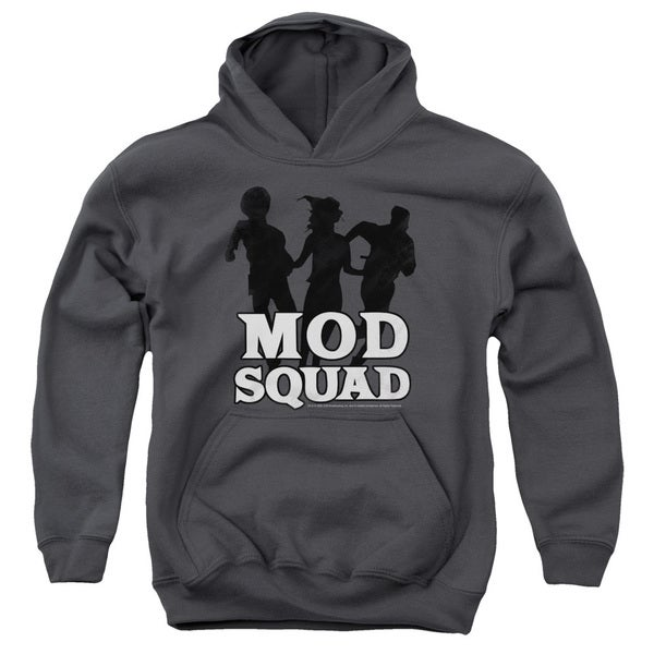 Mod Squad/Mod Squad Run Simple Youth Pull-Over Hoodie in Charcoal