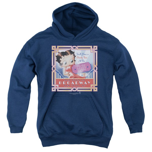 Boop/On Broadway Youth Pull-Over Hoodie in Navy