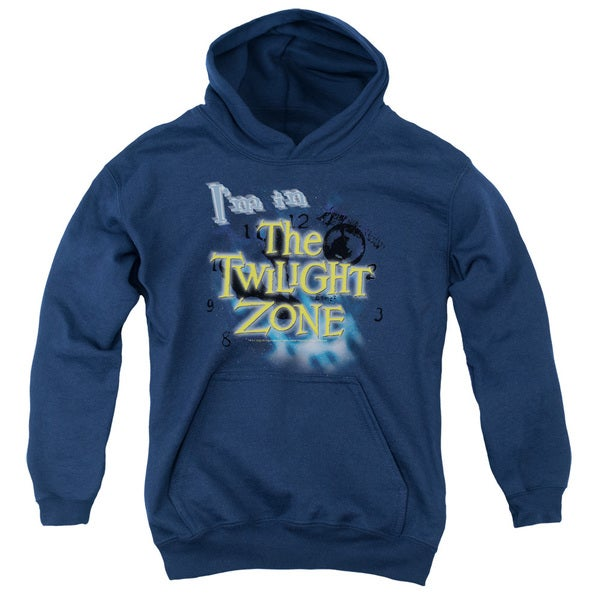 Twilight Zone/I'M in The Twilight Zone Youth Pull-Over Hoodie in Navy