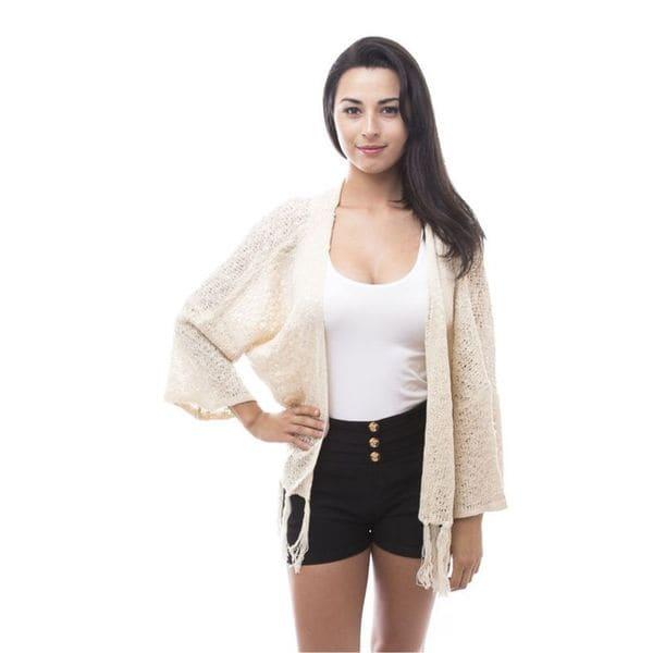 Soho Women Casual Loose Knitted Long Sleeve Cardigan Jacket