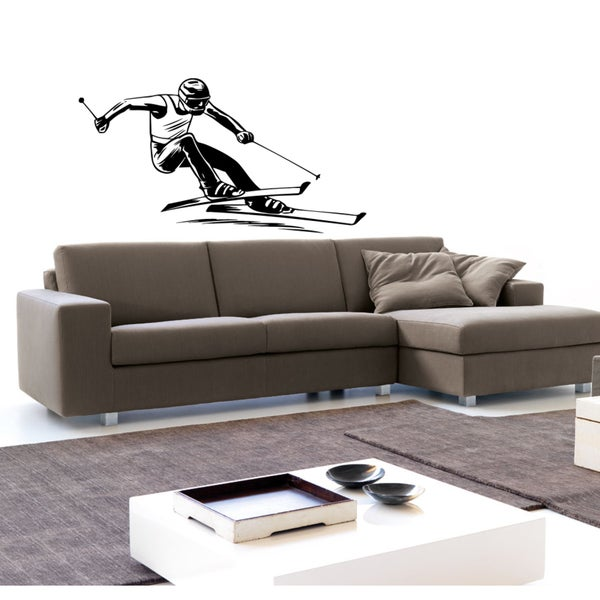 Sport skiing biathlon competition victory race Wall Art Sticker Decal