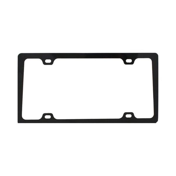 Pilot Automotive Black 4-Hole Mount License Plate Frame for Vehicles Automobile