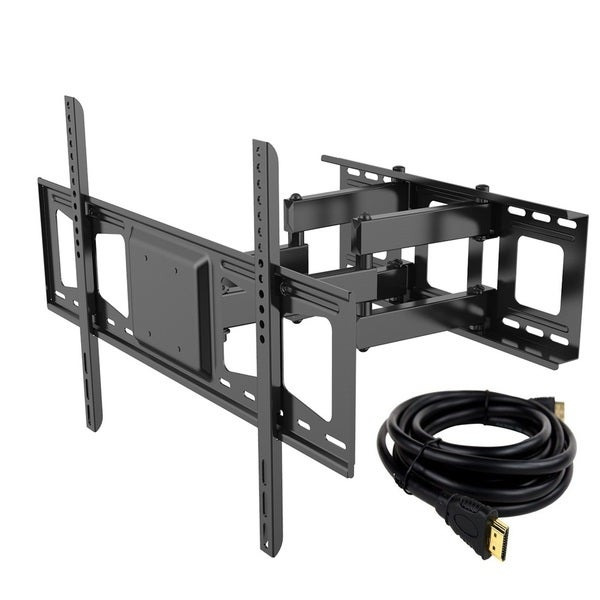 FLEXIMOUNTS V3 Black Cold-rolled Steel Full Motion Tilt Swivel TV Wall Mount Bracket for 32-inch to 65-inch HD LED LCD Plasma TV
