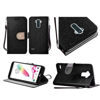 Insten Leather Glitter Case Cover Lanyard with Stand/Diamond For LG G Stylo 2