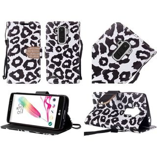 Insten Leopard Leather Case Cover Lanyard with Stand/Diamond For LG G Stylo 2