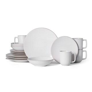 Mikasa Leah Cream Stonewear 16-piece Dishwasher Safe Dinnerware Set