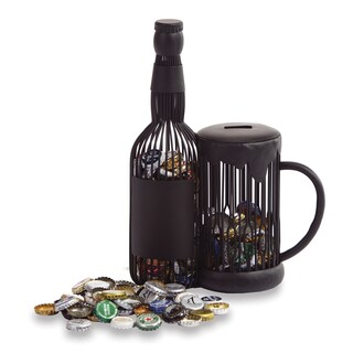 Beer Mug Black Metal Cap Caddy