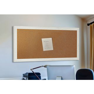 American Made Rayne White Washed Antique Corkboard