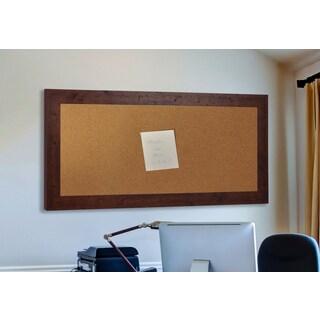 American Made Rayne Rustic Dark Walnut Corkboard