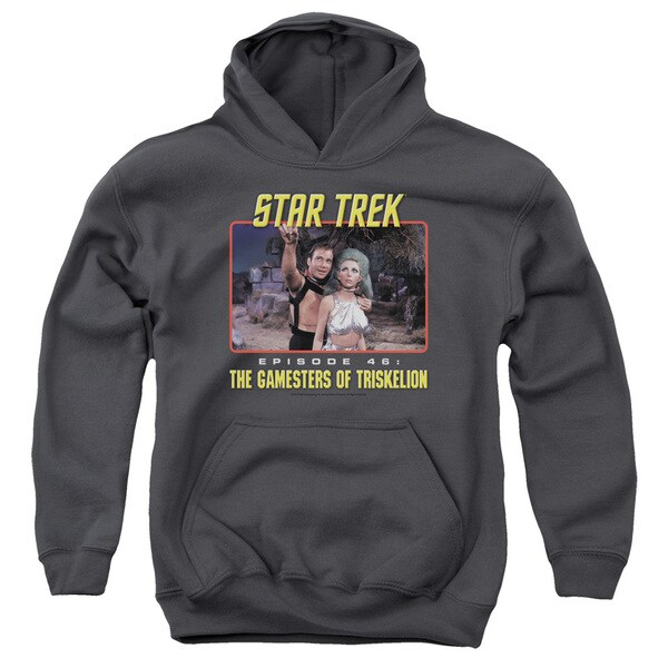 Star Trek/Episode 46 Youth Pull-Over Hoodie in Charcoal